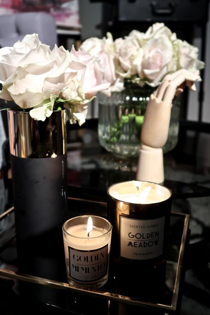 details, flower, candles