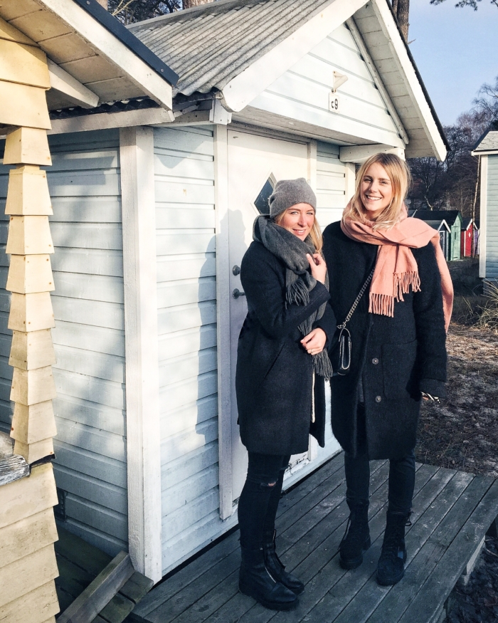 Ystad, cabins, winter