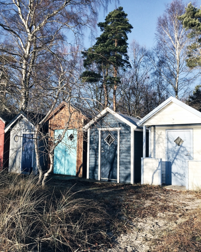Ystadt, schwedische Holzhütten