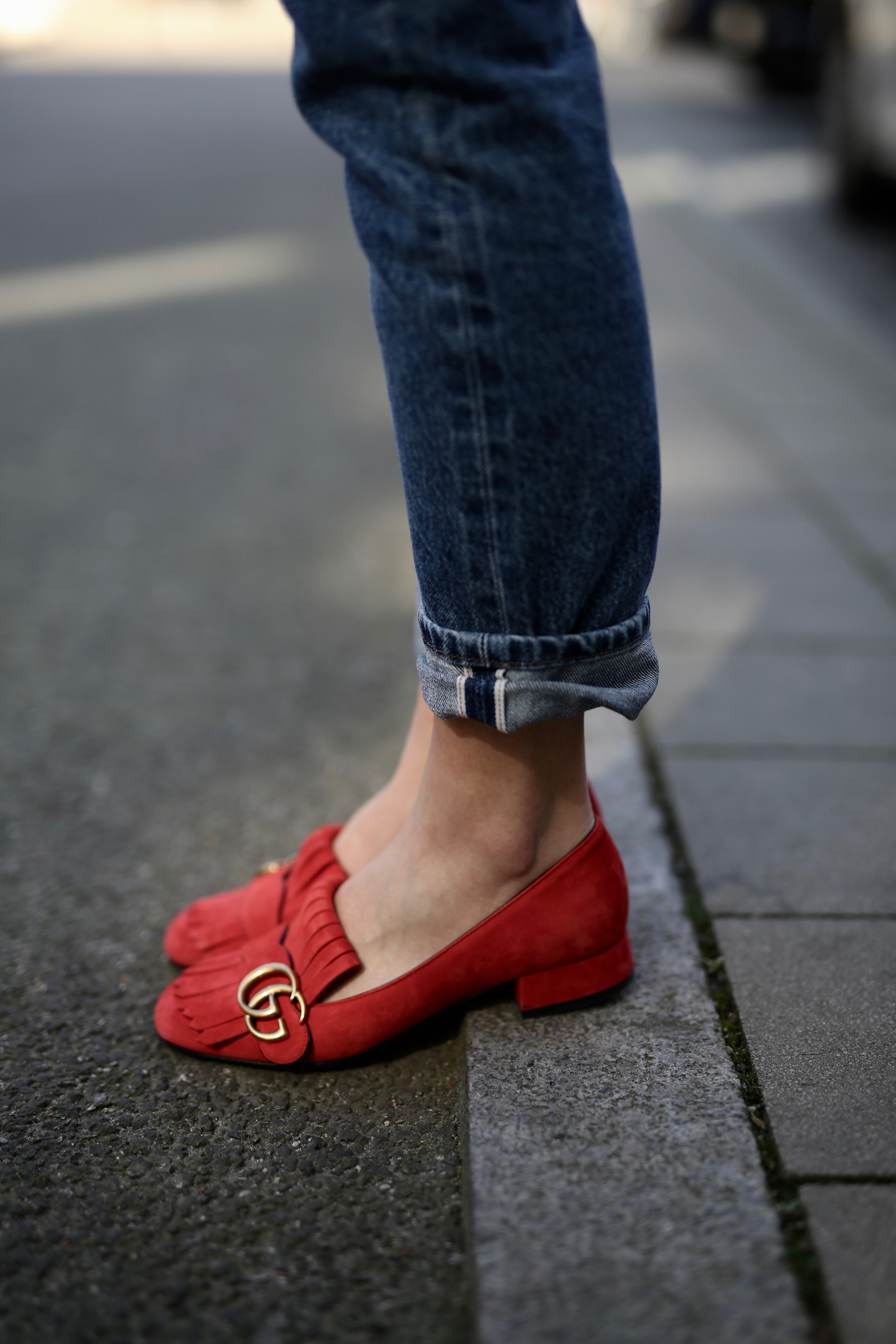 gucci loafers rot jeans - Shoppisticated