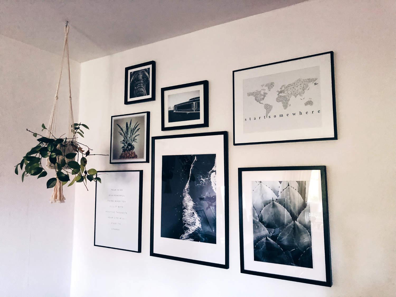 unsere neue bilderwand tipps zum richtigen anbringen von bildern shoppisticated. Black Bedroom Furniture Sets. Home Design Ideas
