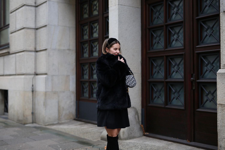 jacke schwarzes kleid