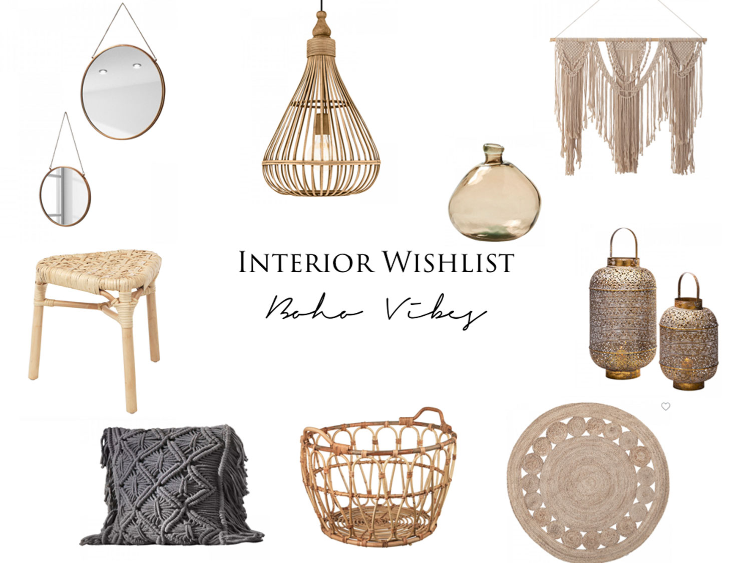 Interior Wishlist – Boho Vibes