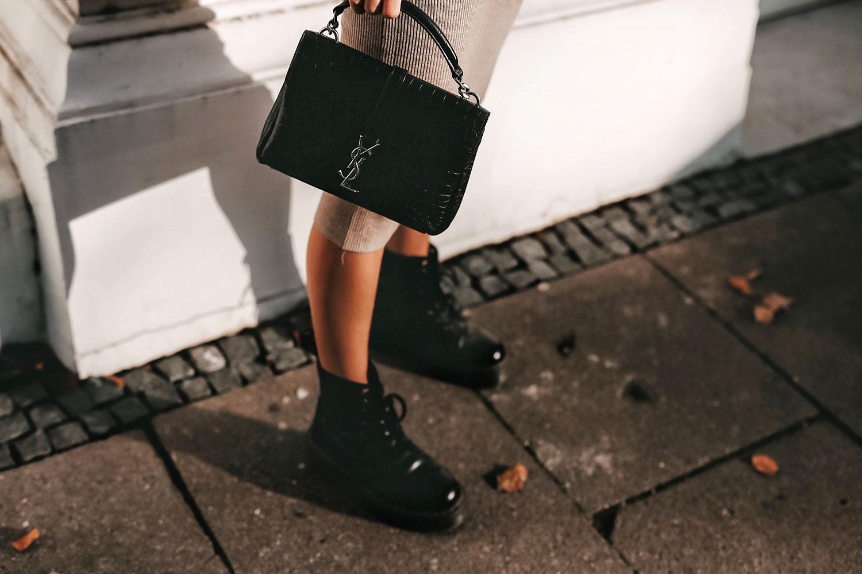 Saint Laurent Tasche Dr Martens Plateau Boots