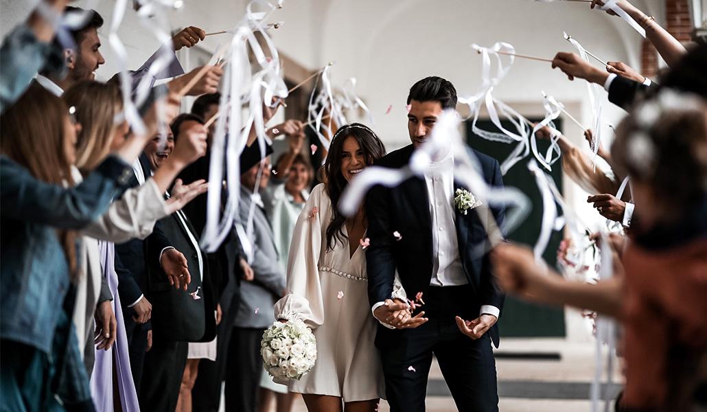 Hochzeit Standesamt happy couple newly weds