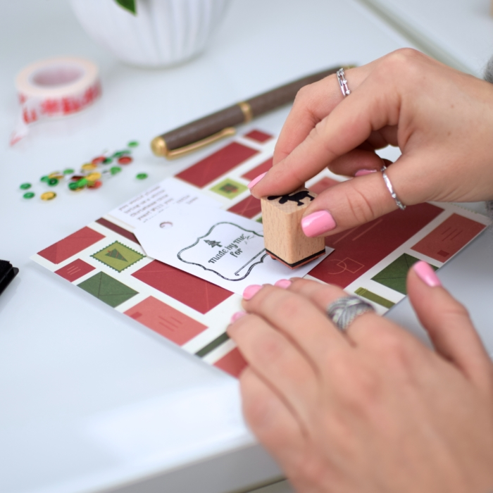 Etsy stamp set, DIY christmas cards