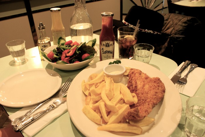 Fisch und Chips im Popples in London